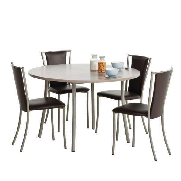Chaise de cuisine contemporaine en métal et synthétique - Reina 2 - 5