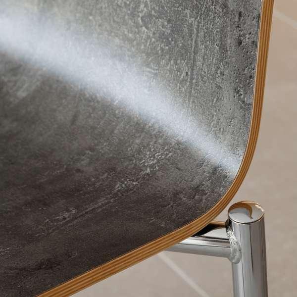 Chaise moderne en métal et stratifié - Pro's 5 - 3
