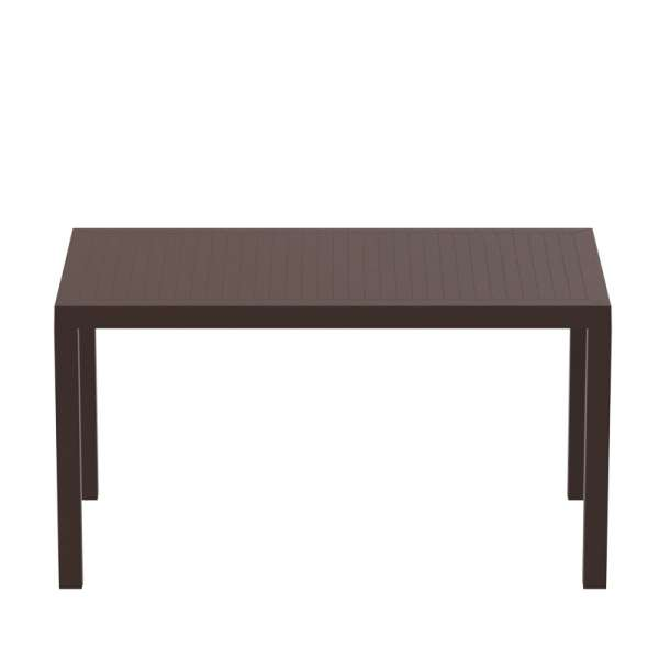 Table de terrasse rectangulaire marron - Ares - 6