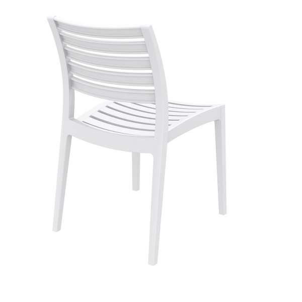Chaise blanche en polypropylène - Ares - 7