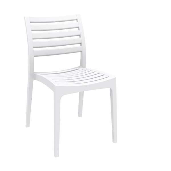 Chaise blanche contemporaine en polypropylène - Ares - 5
