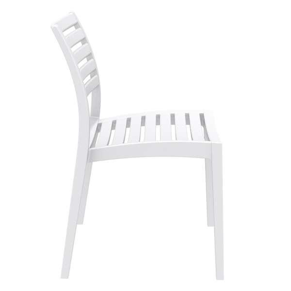Chaise empilable blanche en polypropylène - Ares - 6