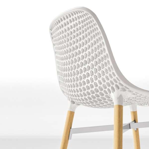 Chaise design Next Infiniti® - Piétement hêtre massif laqué & assise polycarbonate - 9