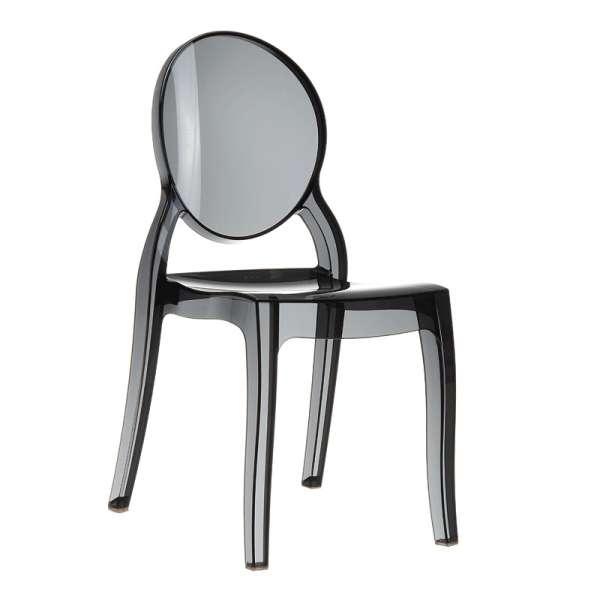 Chaise design en plexi transparent noir Elizabeth - 12