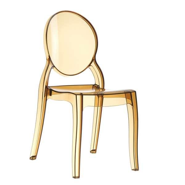 Chaise design en plexi transparent ambre Elizabeth - 10