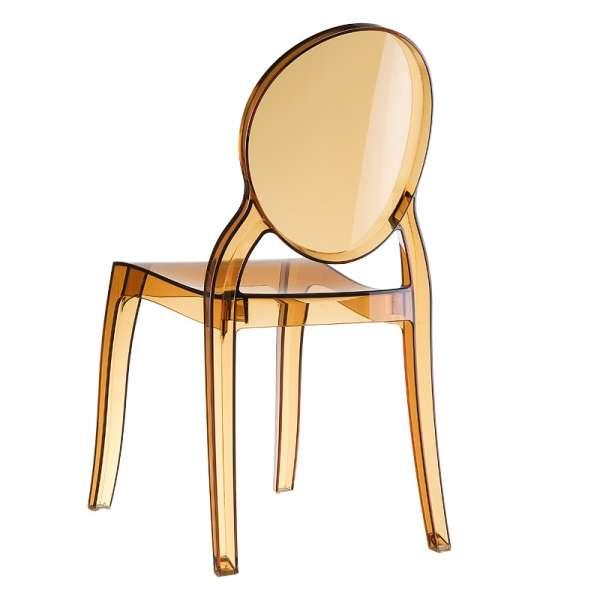 Chaise moderne en plexi transparent ambre Elizabeth - 11