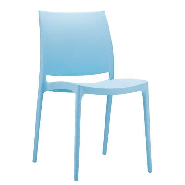 Chaise bleue en plastique polypropylène - Maya - 22