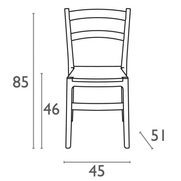 Dimension chaise de jardin en polypropylène Tiffany - 25