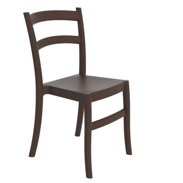 Chaise de jardin en polypropylène marron - Tiffany - 14