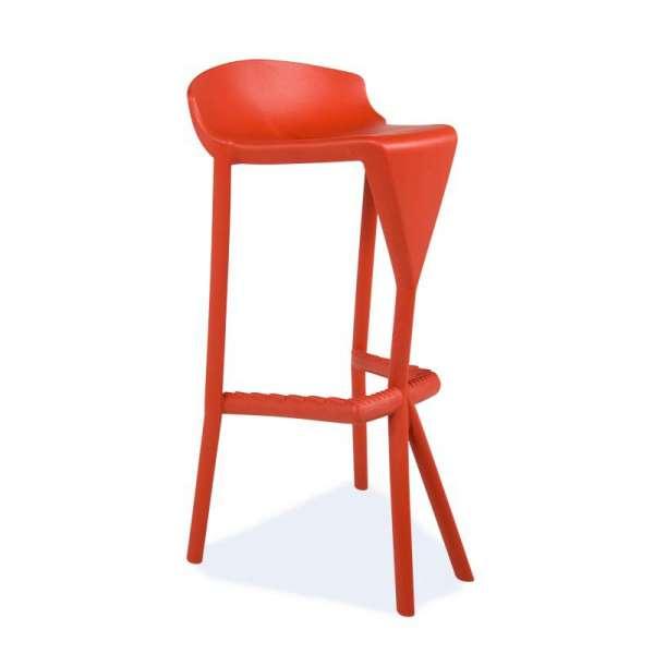 Tabouret design rouge - Shiver - 8