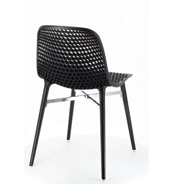 Chaise design Next Infiniti® - Piétement hêtre massif laqué & assise polycarbonate - 6