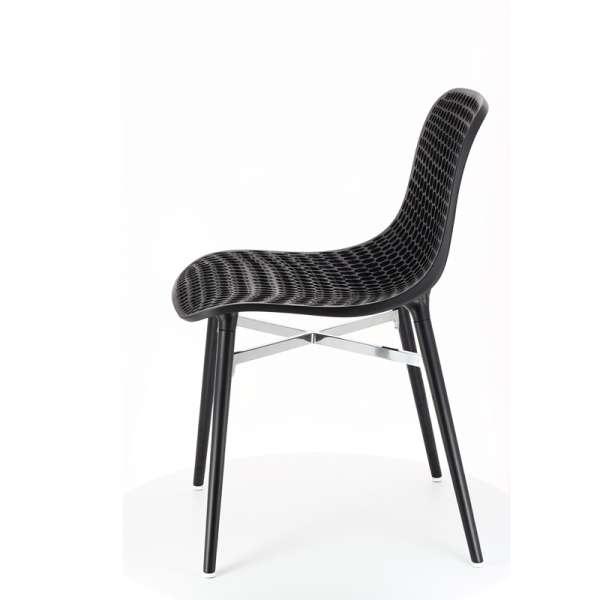 Chaise design Next Infiniti® - Piétement hêtre massif laqué & assise polycarbonate - 8