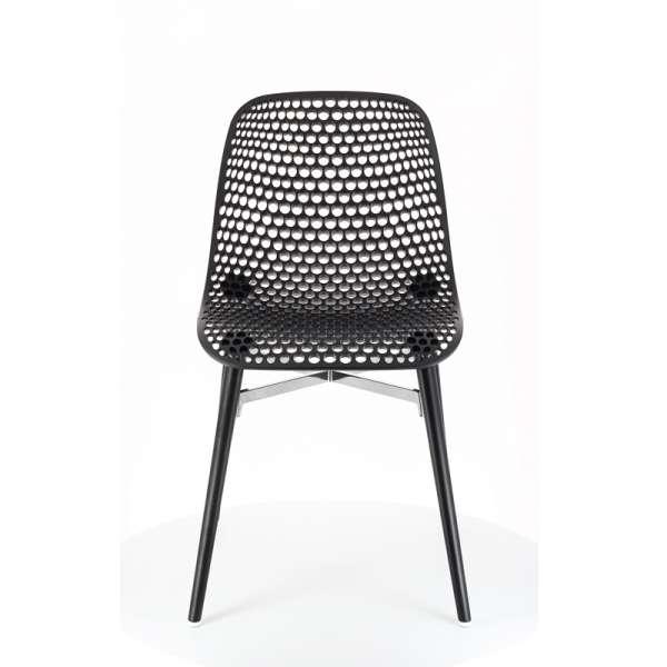 Chaise design Next Infiniti® - Piétement hêtre massif laqué & assise polycarbonate - 1