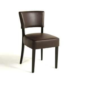 Chaise contemporaine en vinyl et bois - Steffi