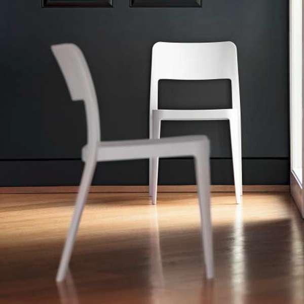 Chaise moderne en plastique blanc - Nené Midj® - 3