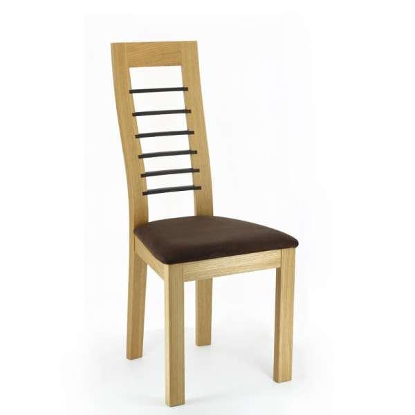 Chaise de séjour contemporaine en tissu et en chêne massif made in France - Cannelle