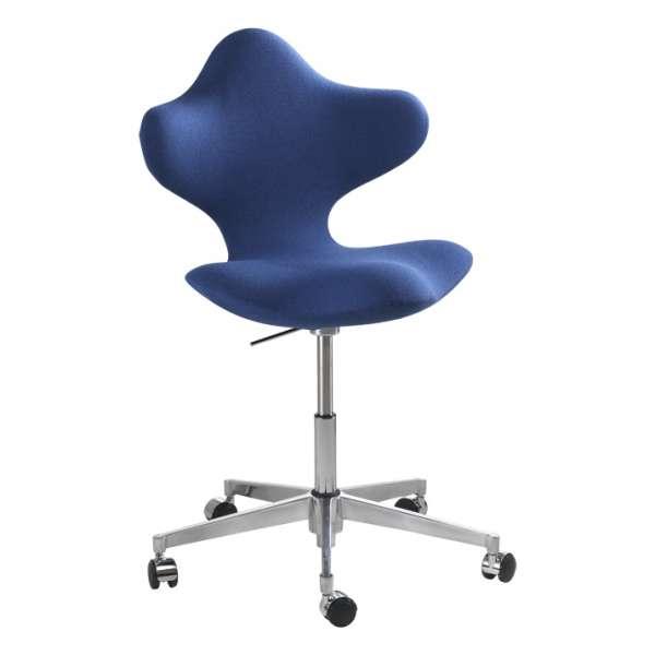 Chaise De Bureau Ergonomique En Tissu Et Metal