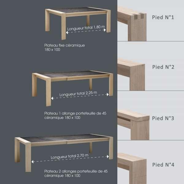 Table céramique contemporaine - Carrée ou Rectangle - 6