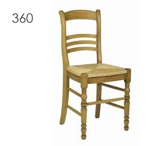 Chaise rustique fabriquée en France en chêne massif - 350 360