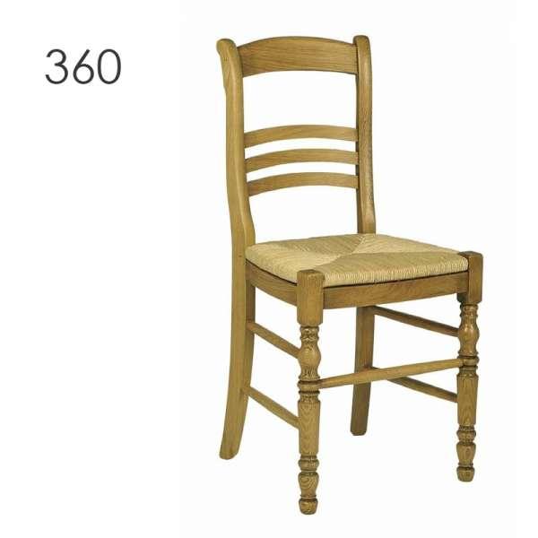 Chaise rustique fabriquée en France en chêne massif - 350 360 - 1