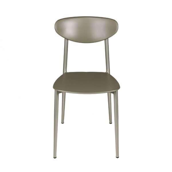Chaise de cuisine grège en polypropylène et métal - Graffiti - 6