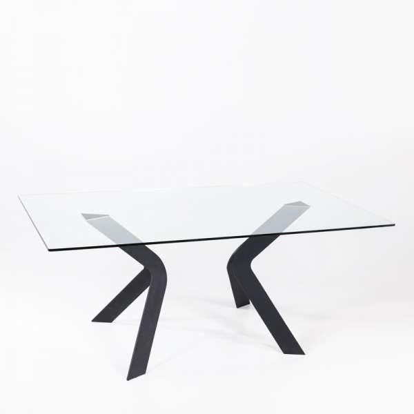 Table design en verre rectangulaire Trendy 100 cm x 180 cm - 1