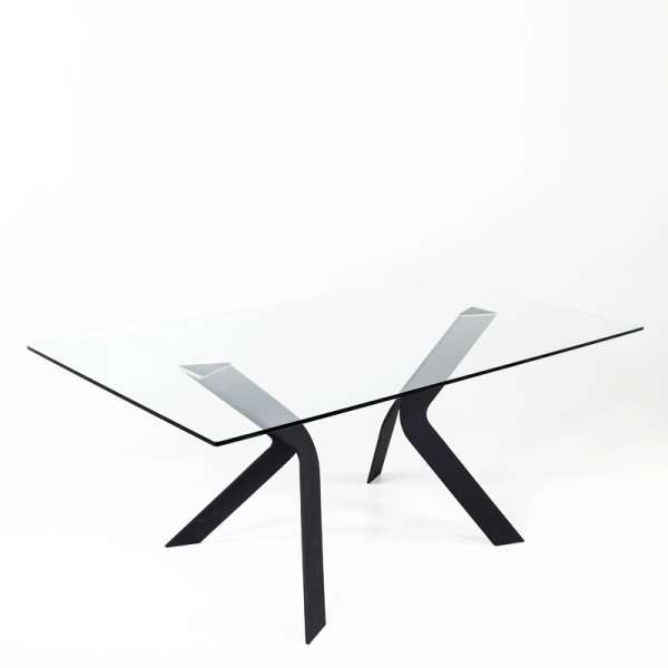 Table design en verre rectangulaire Trendy 100 cm x 180 cm - 2