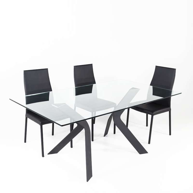 ... Table Design En Verre Rectangulaire Trendy 100 Cm X 180 Cm   3 ...