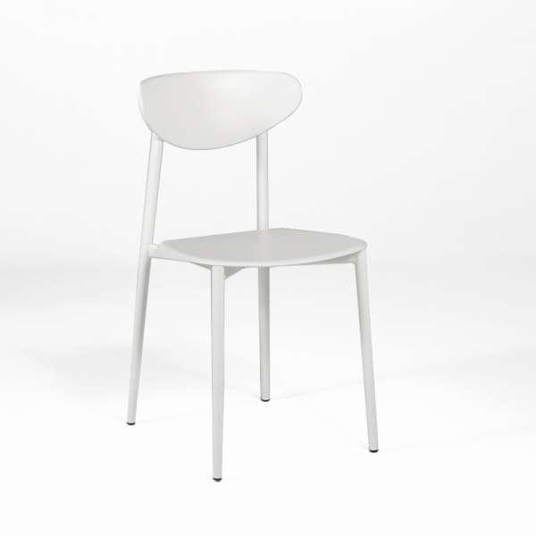 Chaise de cuisine en polypropylène blanche - Graffiti
