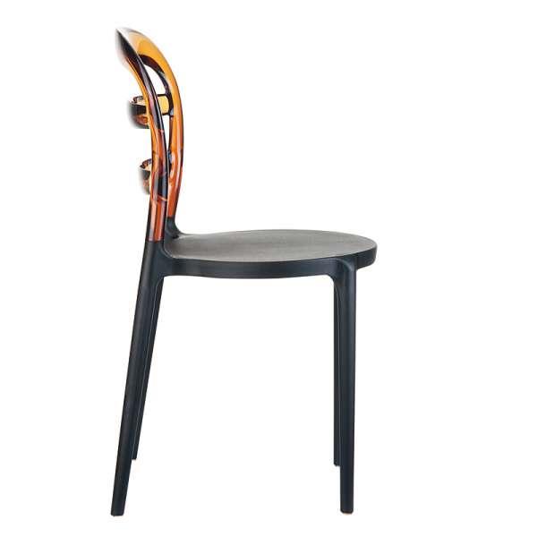 Chaise design en plexi et polypropylène - Miss Bibi 7 - 21