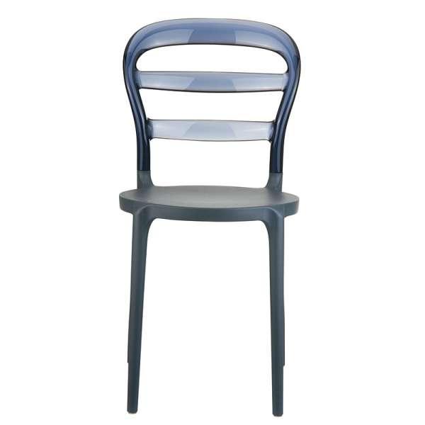 Chaise design en plexi et polypropylène - Miss Bibi 17 - 31