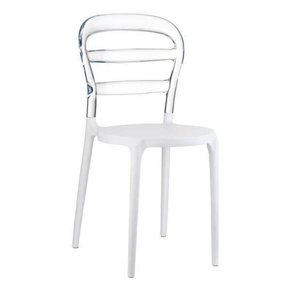 Chaise design en plexi et polypropylène - Miss Bibi 14 - 28