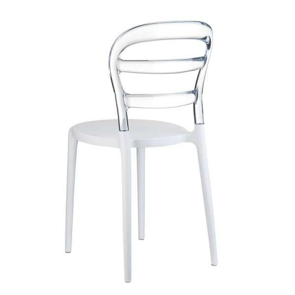Chaise design en plexi et polypropylène - Miss Bibi 15 - 29