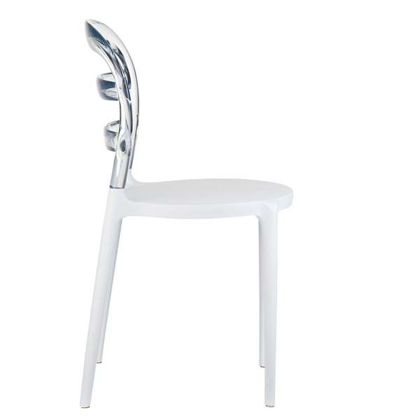 Chaise design en plexi et polypropylène - Miss Bibi 16 - 30