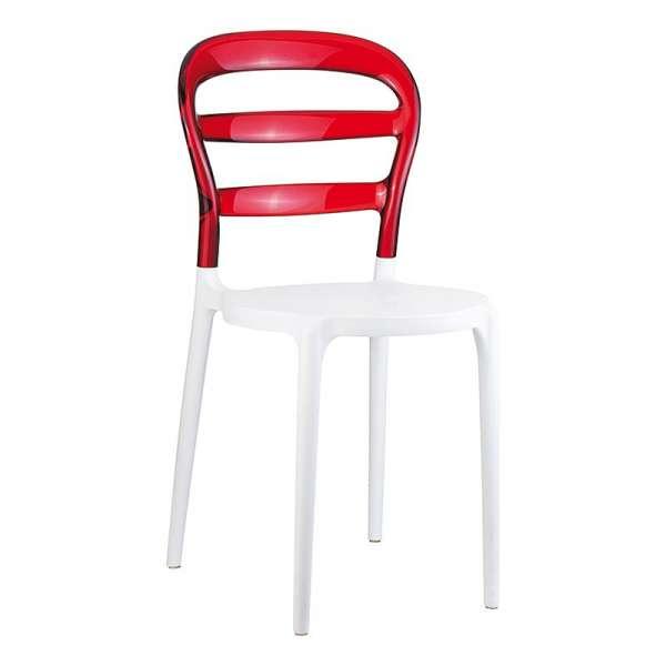 Chaise design en plexi et polypropylène - Miss Bibi 23 - 37