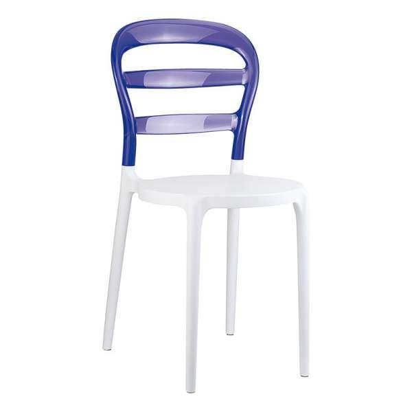 Chaise design en plexi et polypropylène - Miss Bibi 19 - 33