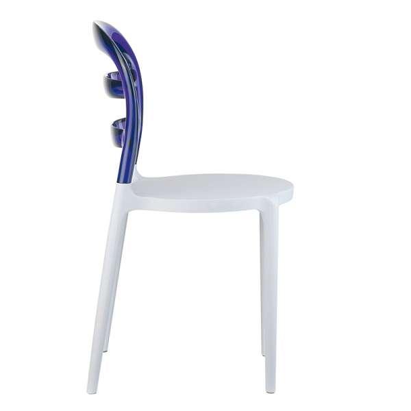 Chaise design en plexi et polypropylène - Miss Bibi 21 - 35