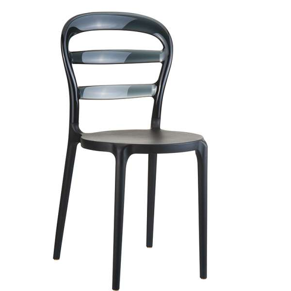 Chaise design au dossier transparent -  Miss Bibi - 13