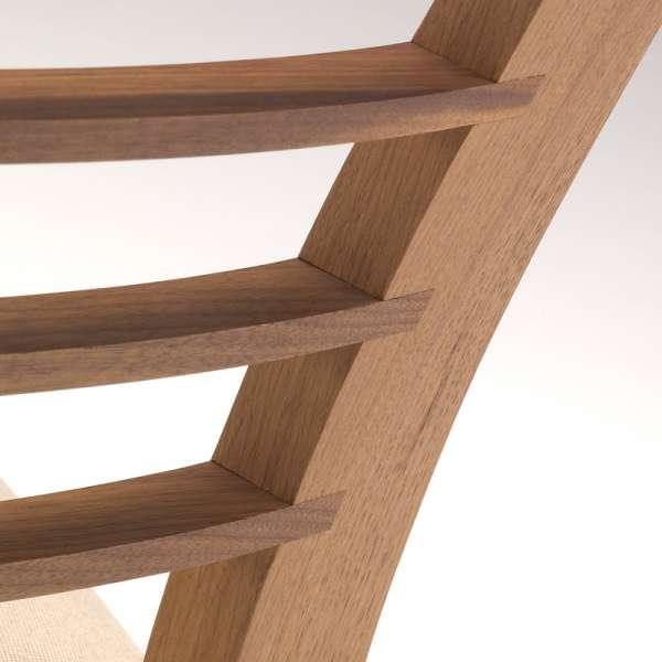 Chaise de séjour contemporaine en chêne massif et tissu - Cannelle 1 - 7