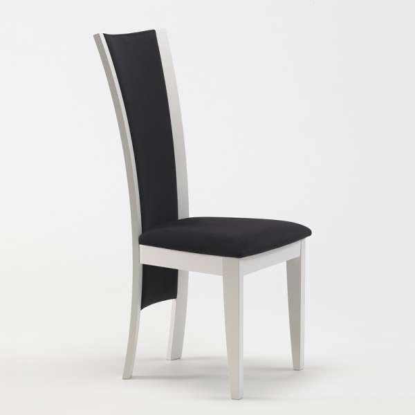 Chaise de séjour contemporaine en tissu et bois massif fabrication française -  Kelly