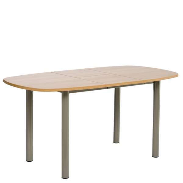 Table de cuisine en stratifié avec allonge - Lustra 2 - 4