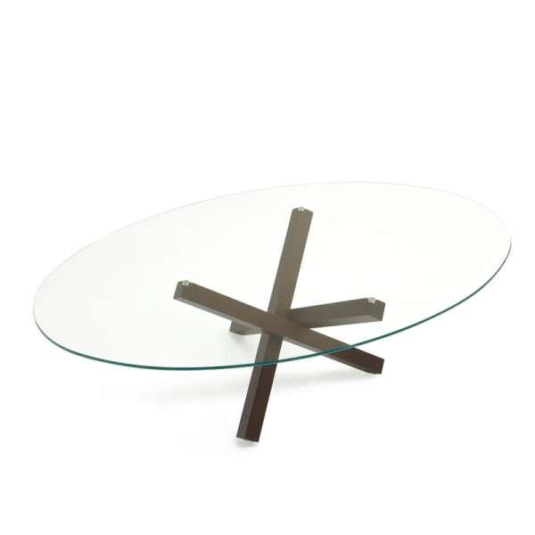 Table de salle à manger ovale design en verre - Aikido Sovet® 3 - 3