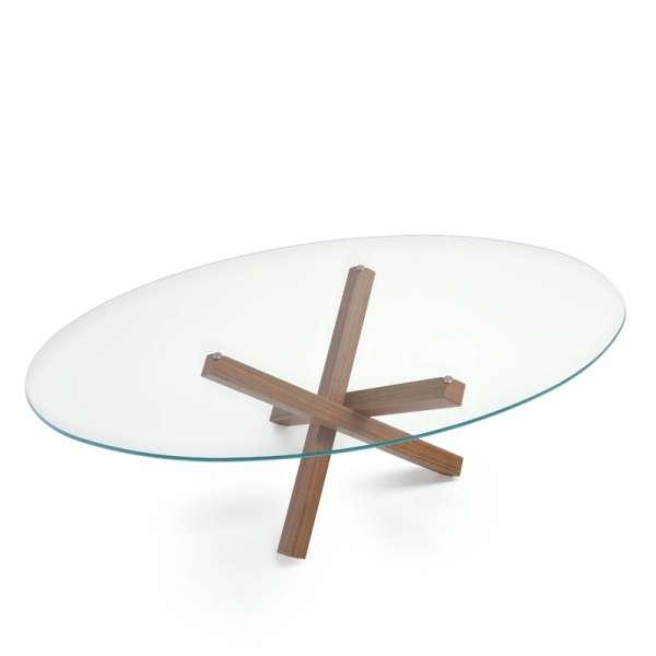 Table de salle à manger ovale design en verre - Aikido Sovet® 4 - 4