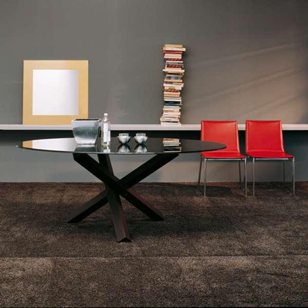 Table de salle à manger ovale design en verre - Aikido Sovet® - 1