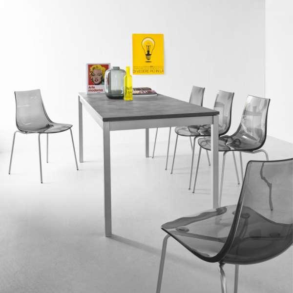 Chaise design en métal et plexi - Led 2 - 2