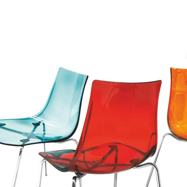 Chaise design en métal et plexi - Led 13 - 13