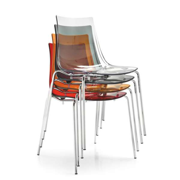 Chaise design en métal et plexi - Led 14 - 14