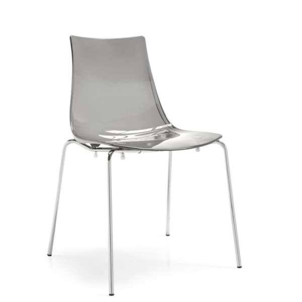 Chaise design en métal et plexi - Led 6 - 6