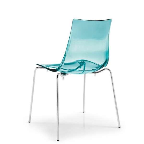 Chaise design en métal et plexi - Led 8 - 8
