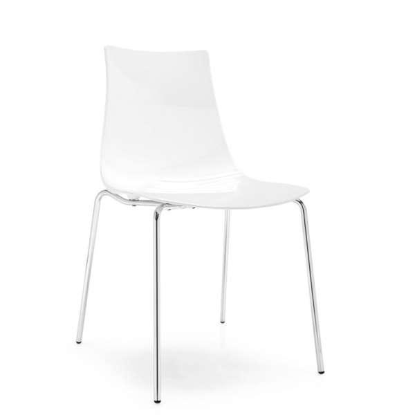 Chaise design en métal et plexi - Led 9 - 9